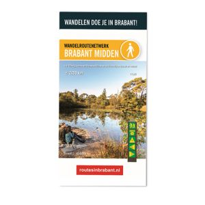 Wandelkaart: Brabant Midden, o.a. Tilburg, Loonse en Drunense Duinen en de Oisterwijkse bossen