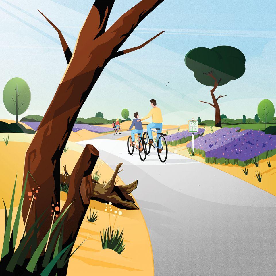 Fietskaart: Brabant Midden
