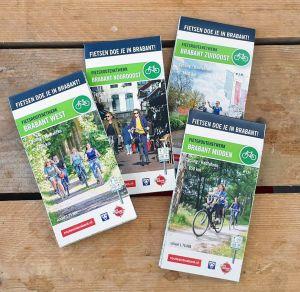 Set van 4 fietskaarten