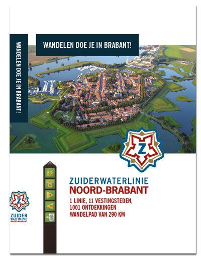 Wandelboek Zuiderwaterlinie Luxe Ingebonden Wandelboek Met